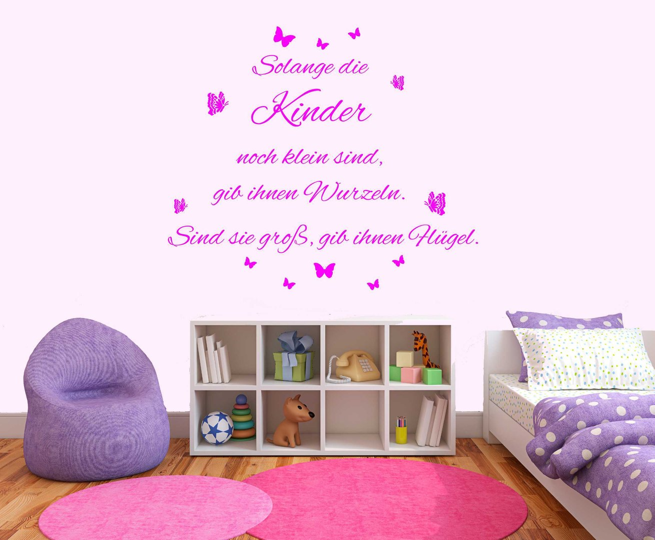 wandtattoo solange die kinder klein sind kinderzimmer. Black Bedroom Furniture Sets. Home Design Ideas