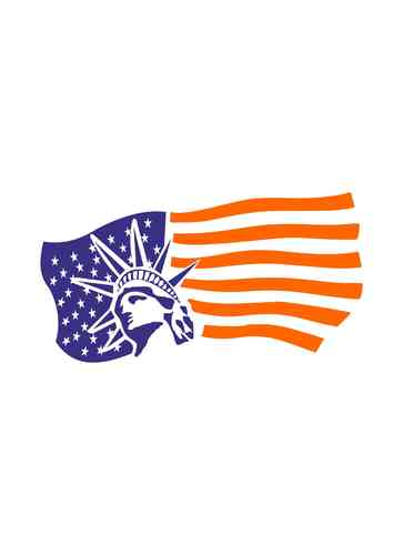 Wandtattoo - Flagge New York Amerika Fahne