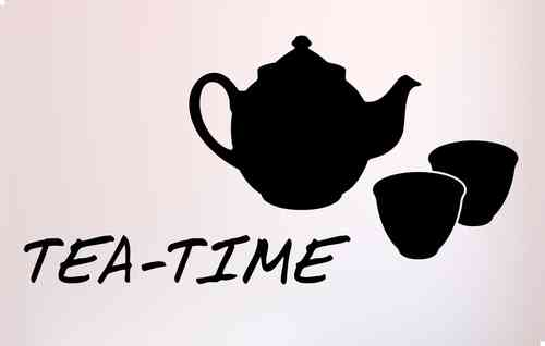 Wandtattoo - Tea-Time