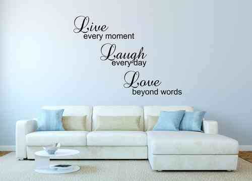 Wandtattoo - Live - Laugh - Love