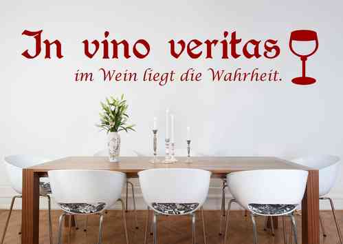 Wandtattoo - In vino veritas